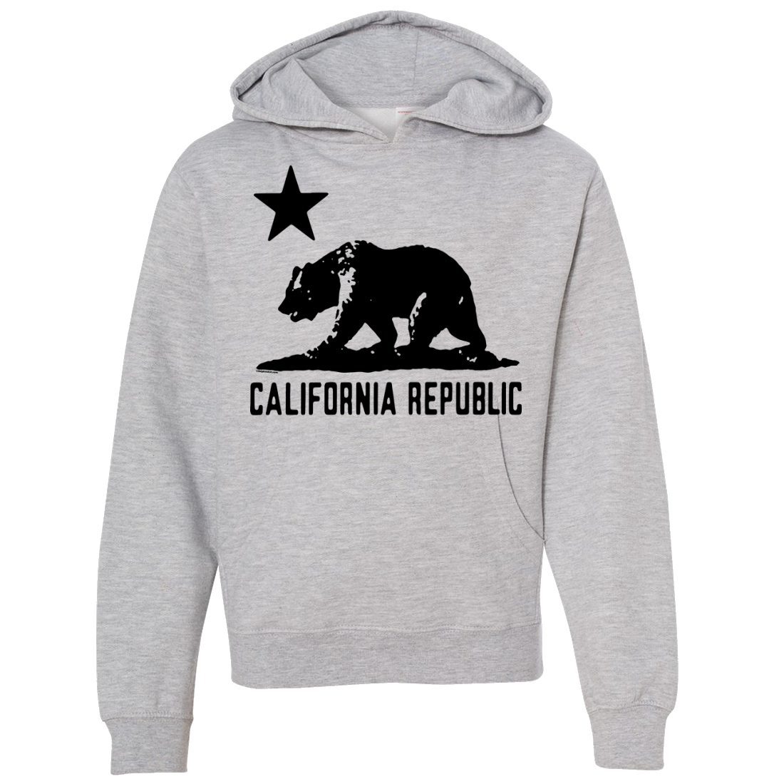 California Flag Oversize Black Silhouette Premium Youth Sweatshirt Hoodie