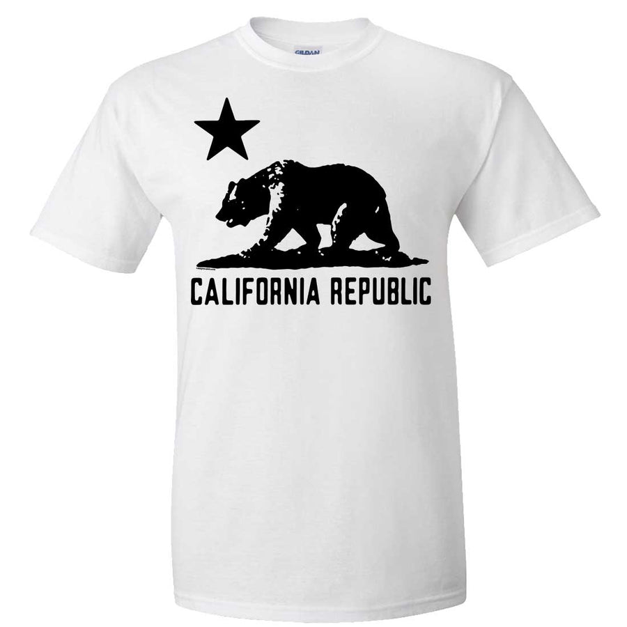 California Flag Oversized Black Silhouette T Shirt Tee