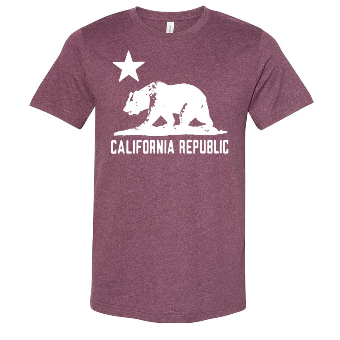 California Flag Oversize White Silhouette Asst Colors Sueded Tee