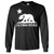 California Flag Oversize White Silhouette Long Sleeve Shirt
