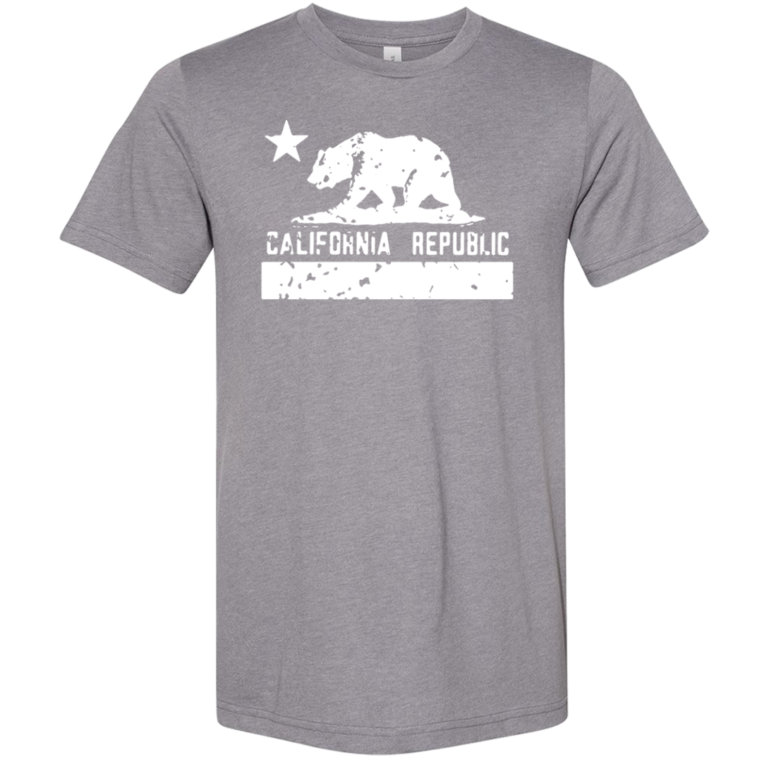 California Flag White Print Silhouette Asst Colors Sueded Tee