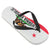 Ladies California Republic Flag Flip Flop Sandals