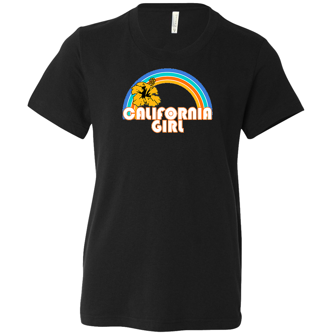 California Girl Rainbow Hibiscus Asst Colors Youth T-Shirt/tee