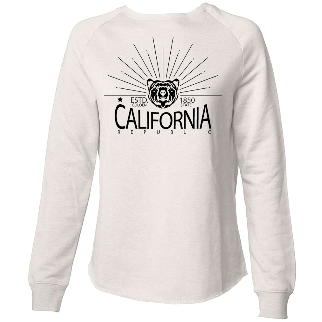 California Hoodie Golden State West Coast Sweatshirt Pullover Cali Map Bear Logo