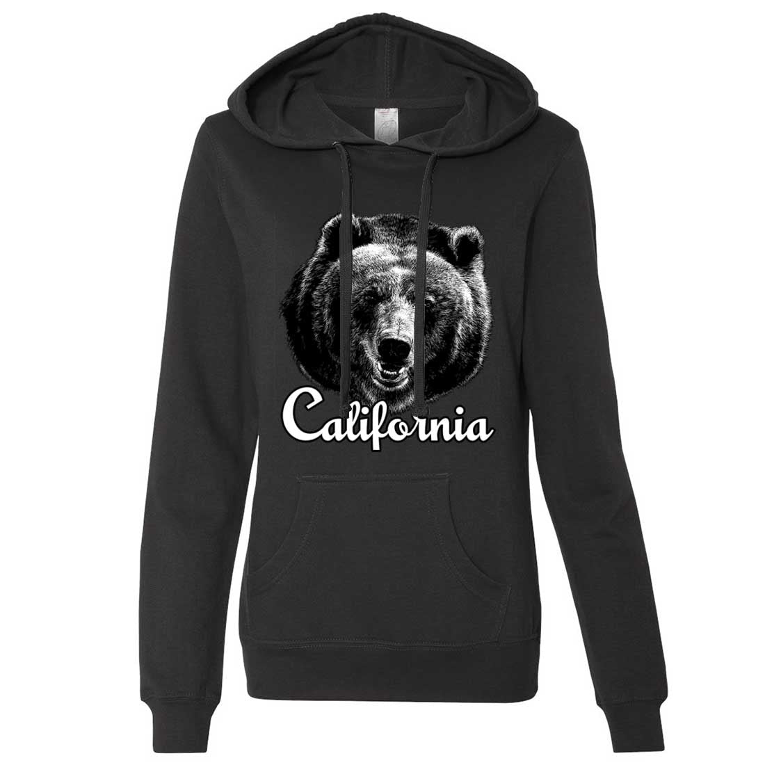 California Grizzly Bear Ladies Lt./Wt. Hoodie