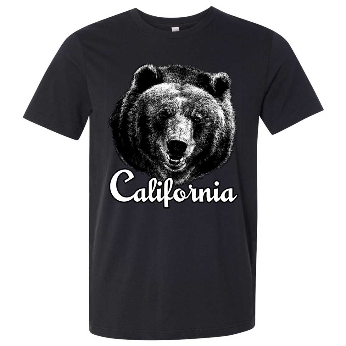 California Grizzly Bear Asst Colors Mens Fitted Tee