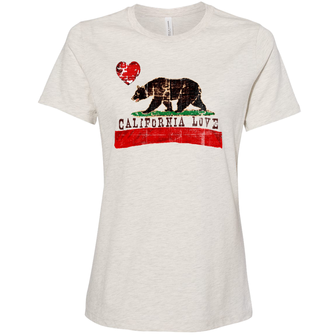 California Love Distressed Women's Relaxed Jersey Tee