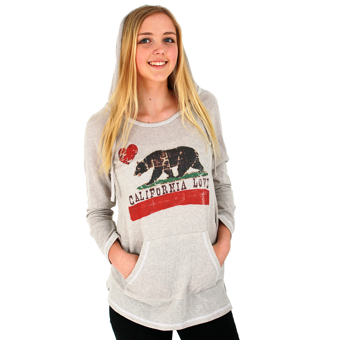 California Love French Terry Hooded Pullover Tunic