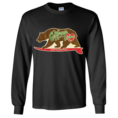 California Love Vintage Surfboard Long Sleeve Shirt