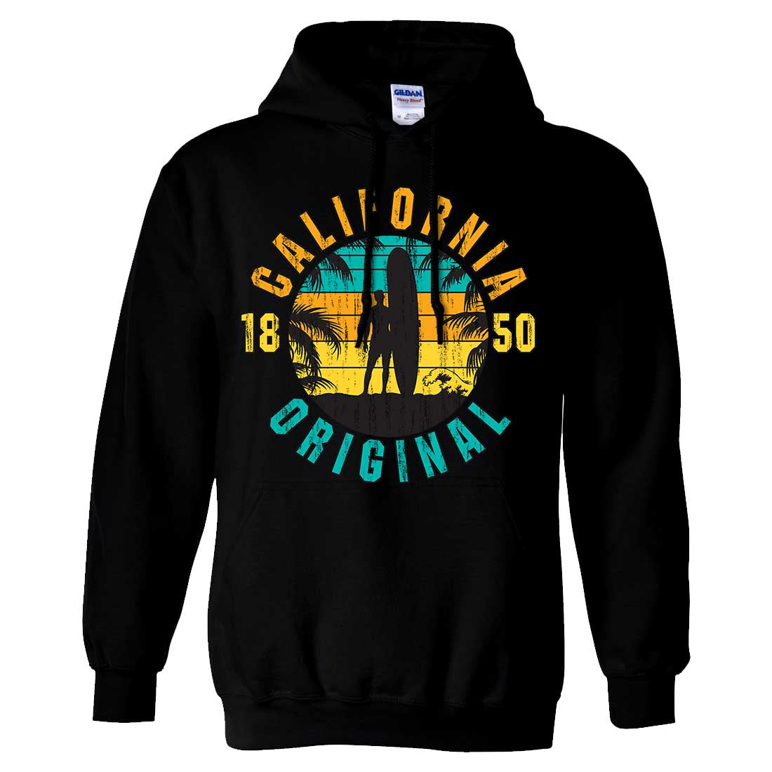 California Original Vintage Surfer Sweatshirt Hoodie