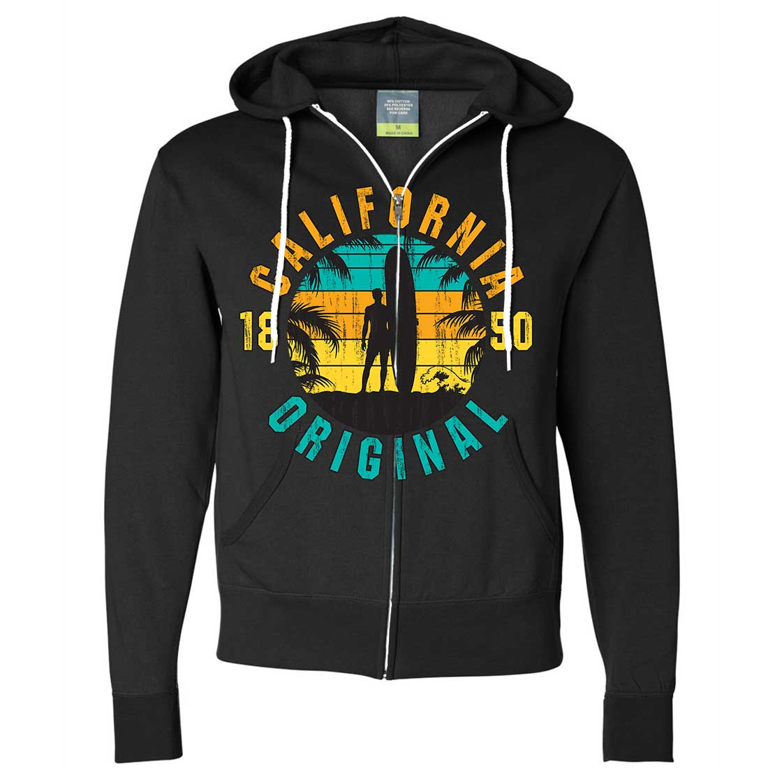 California Original Vintage Surfer Zip-Up Hoodie