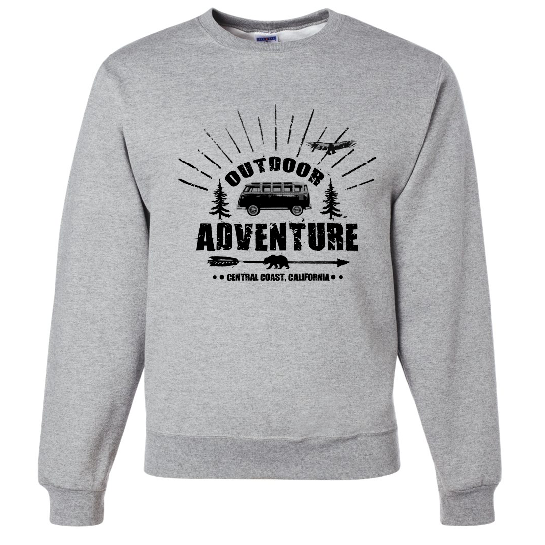 California Outdoor Adventure Crewneck Sweatshirt