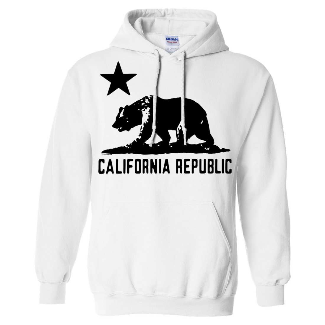 California Flag Black Oversized Silhouette Asst Colors Hoodie