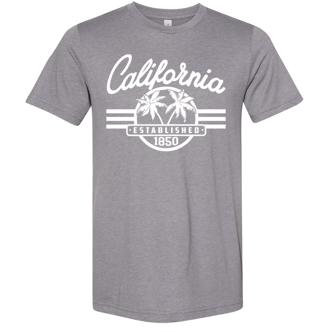 California Palm Tree Logo Asst Colors Sueded Tee