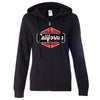 California Paradise Found Ladies Zip-Up Hoodie