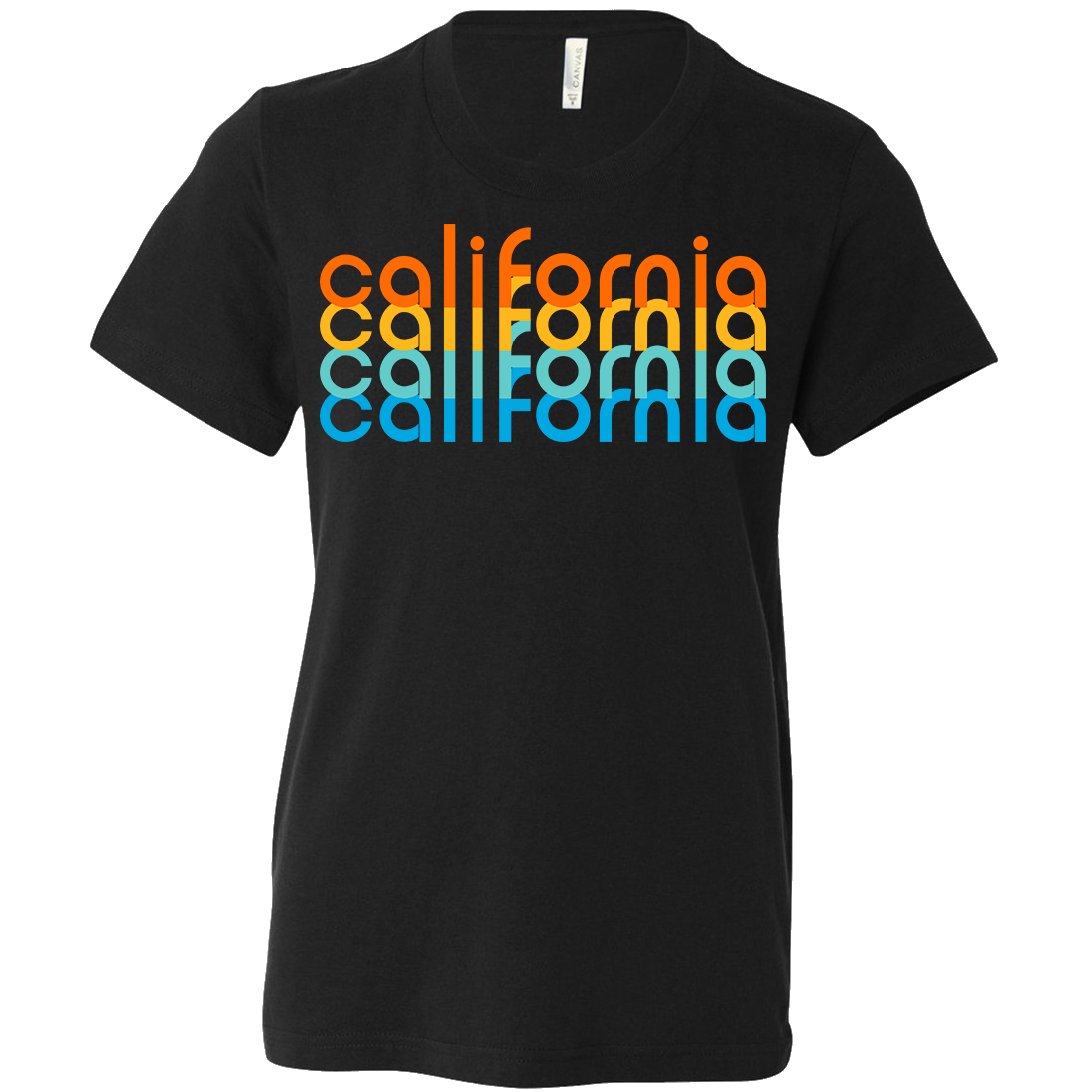 California Rainbow Stack Asst Colors Youth T-Shirt/tee