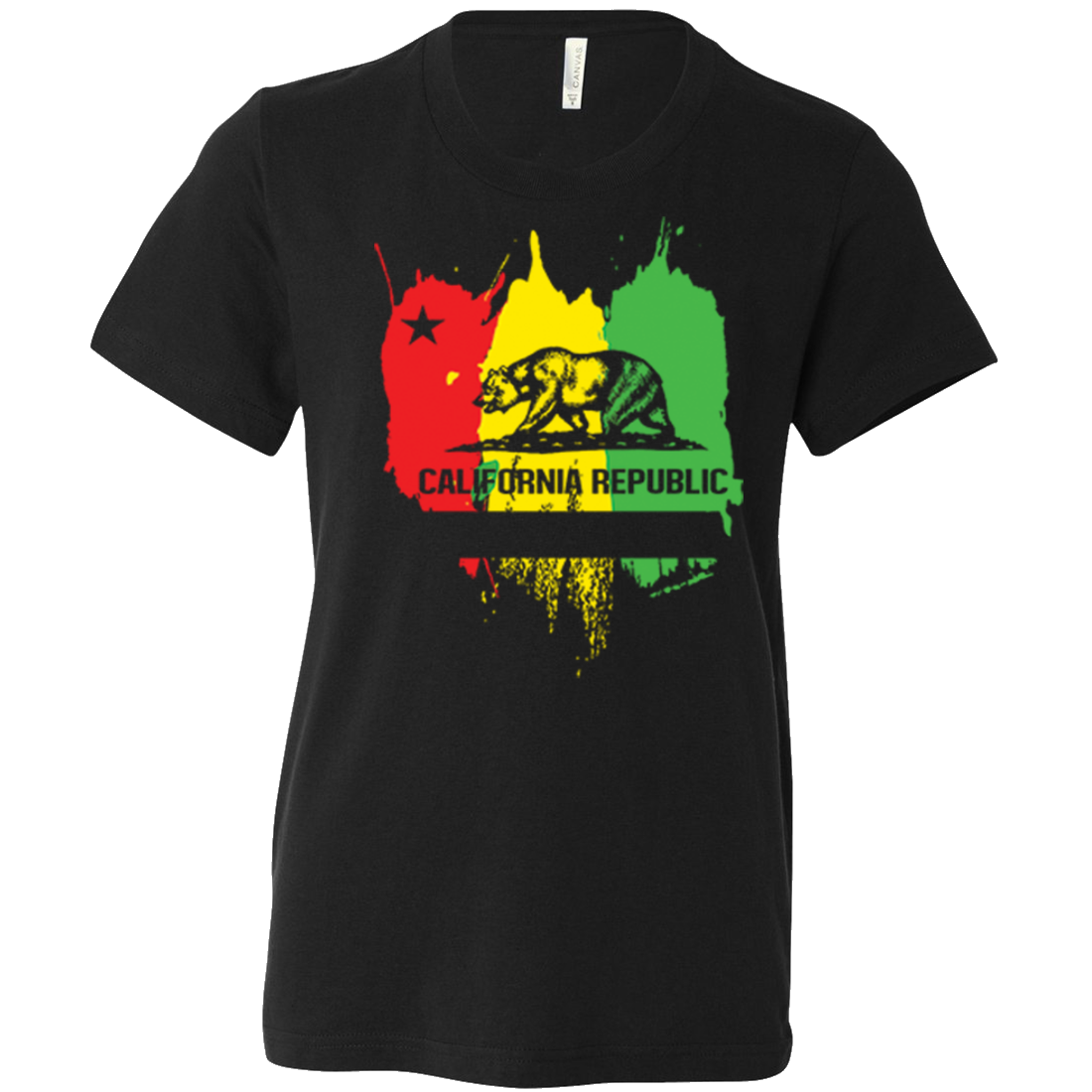 California Rasta Flag Asst Colors Youth T-Shirt/tee