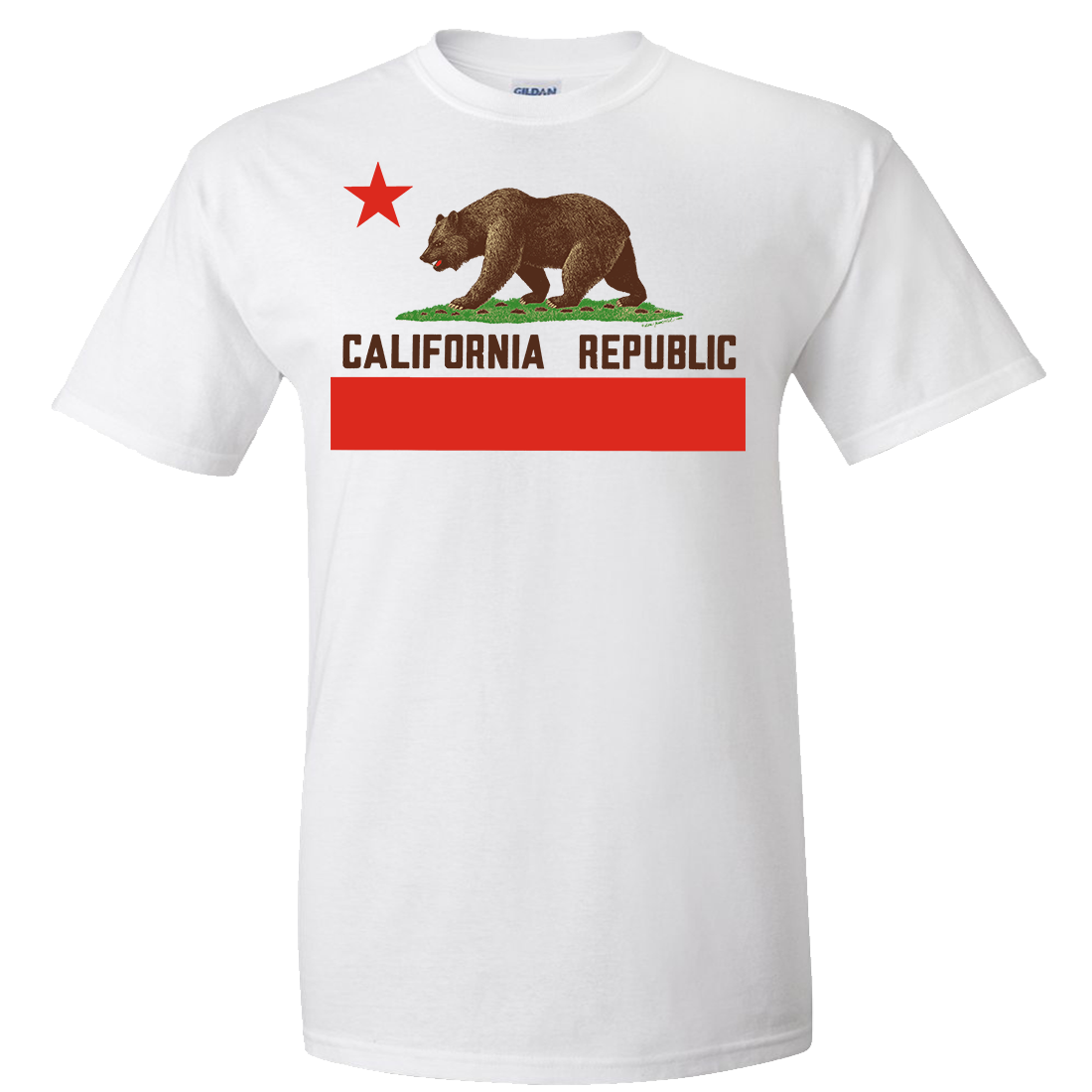Don Pimentel California Republic Bear Flag Brown Text Asst Colors T-shirt/tee