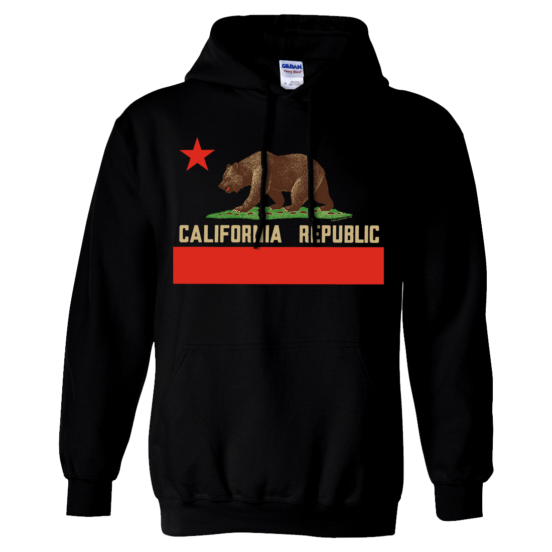 Don Pimentel California Republic Bear Flag Sweatshirt Hoodie