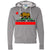 California Republic Borderless Bear Flag Black Text Zip-Up Hoodie