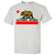 California Republic Borderless Bear Flag Black Text Asst Colors T-shirt/tee