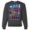 California Republic Cosmic State Flag Logo Design In Space Galaxy Crewneck Sweatshirt