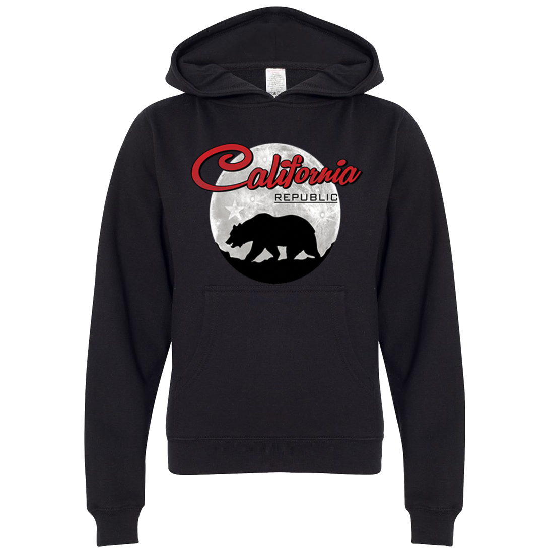 California Republic Full Moon Bear Premium Youth Sweatshirt Hoodie