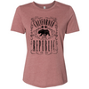California Republic JD Whiskey Black Print Women's Relaxed Jersey Tee
