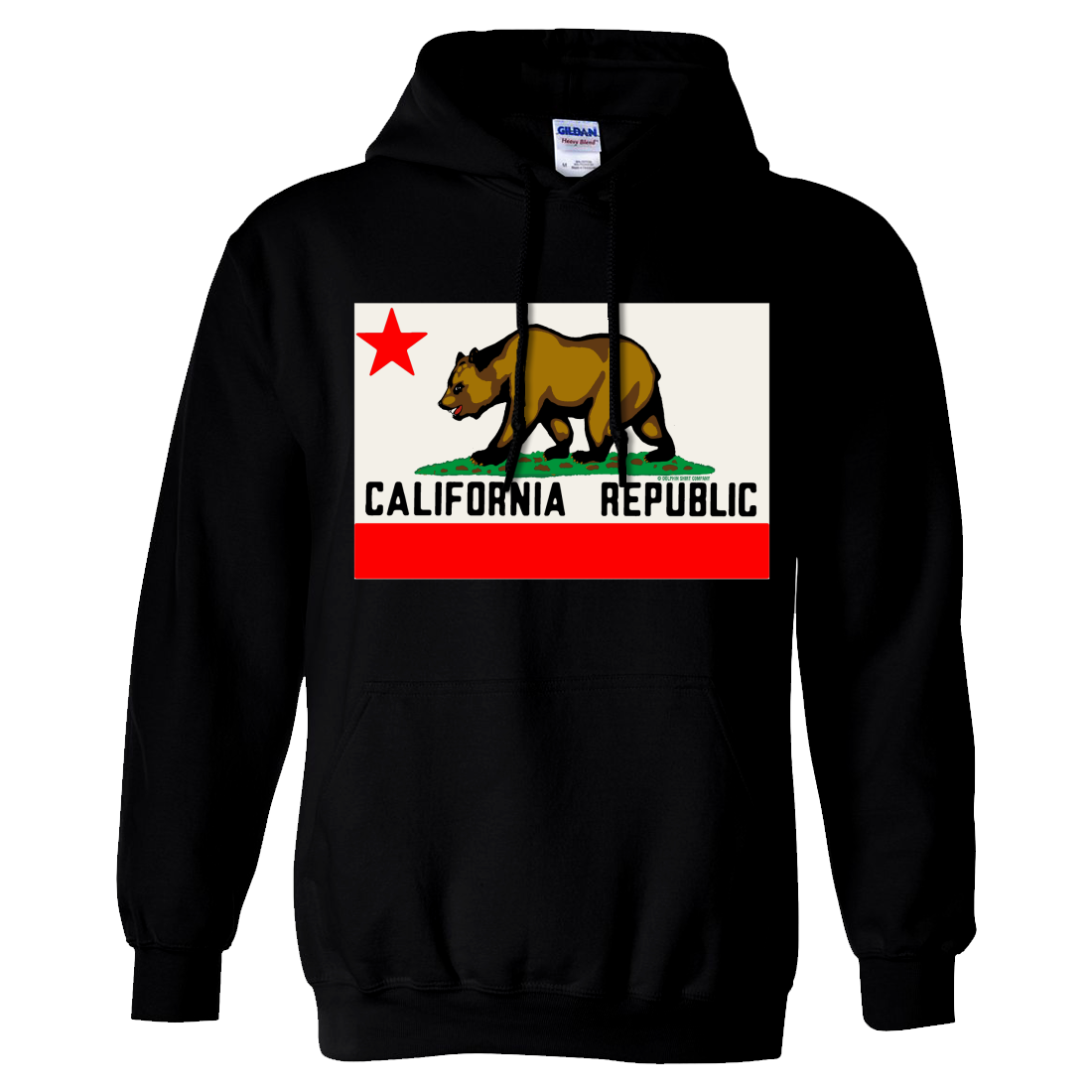 California Republic Original Bear Flag Sweatshirt Hoodie