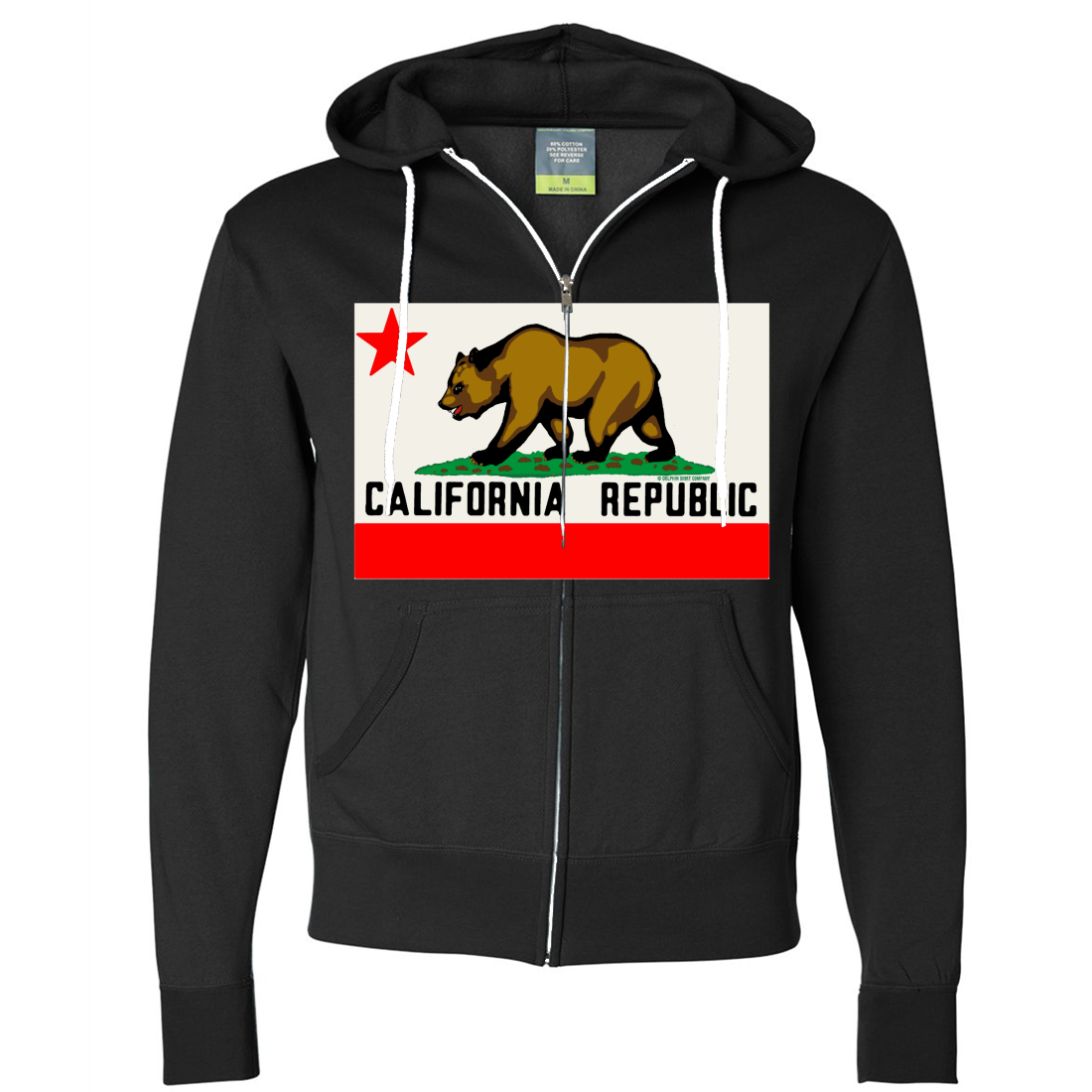 California Republic Original Bear Flag Zip-Up Hoodie