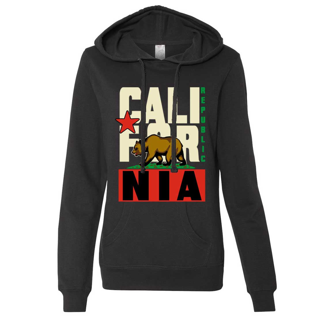 California Republic Original Retro Bold Ladies Lt./Wt. Hoodie