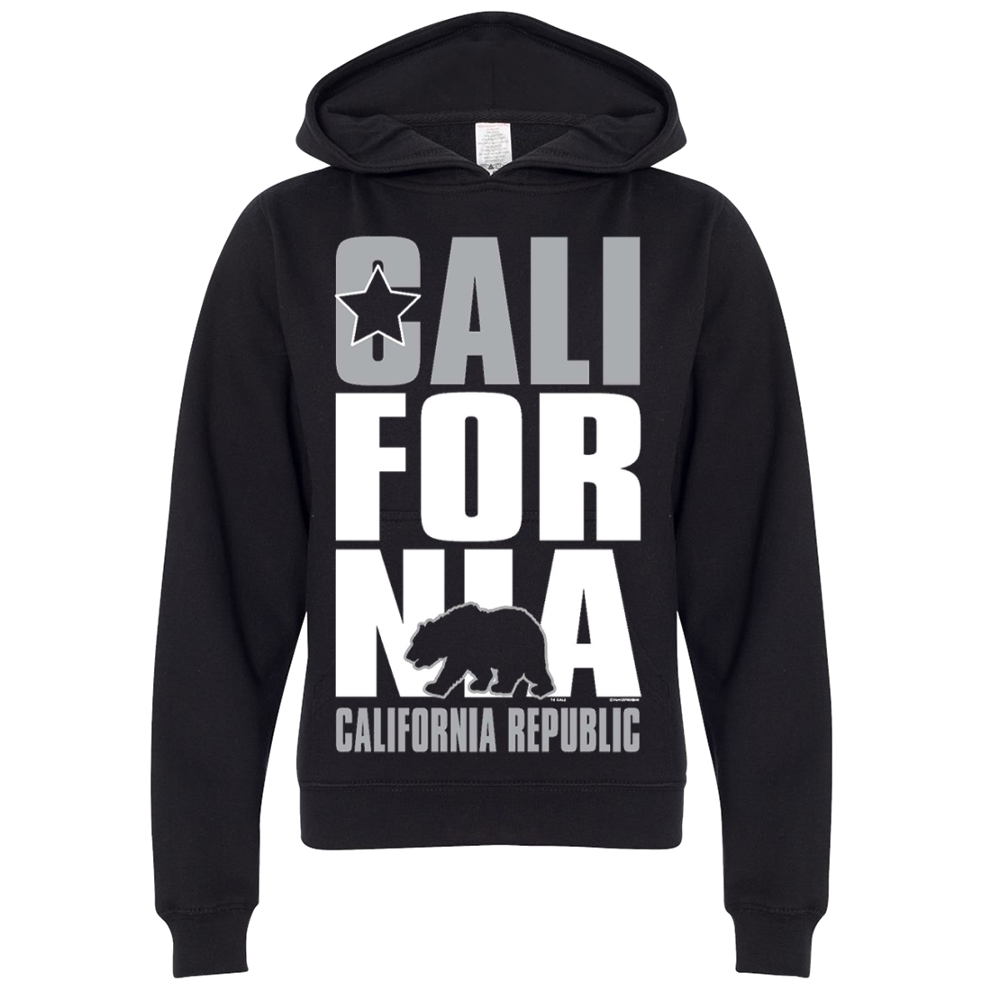 California Republic Silver Premium Youth Sweatshirt Hoodie