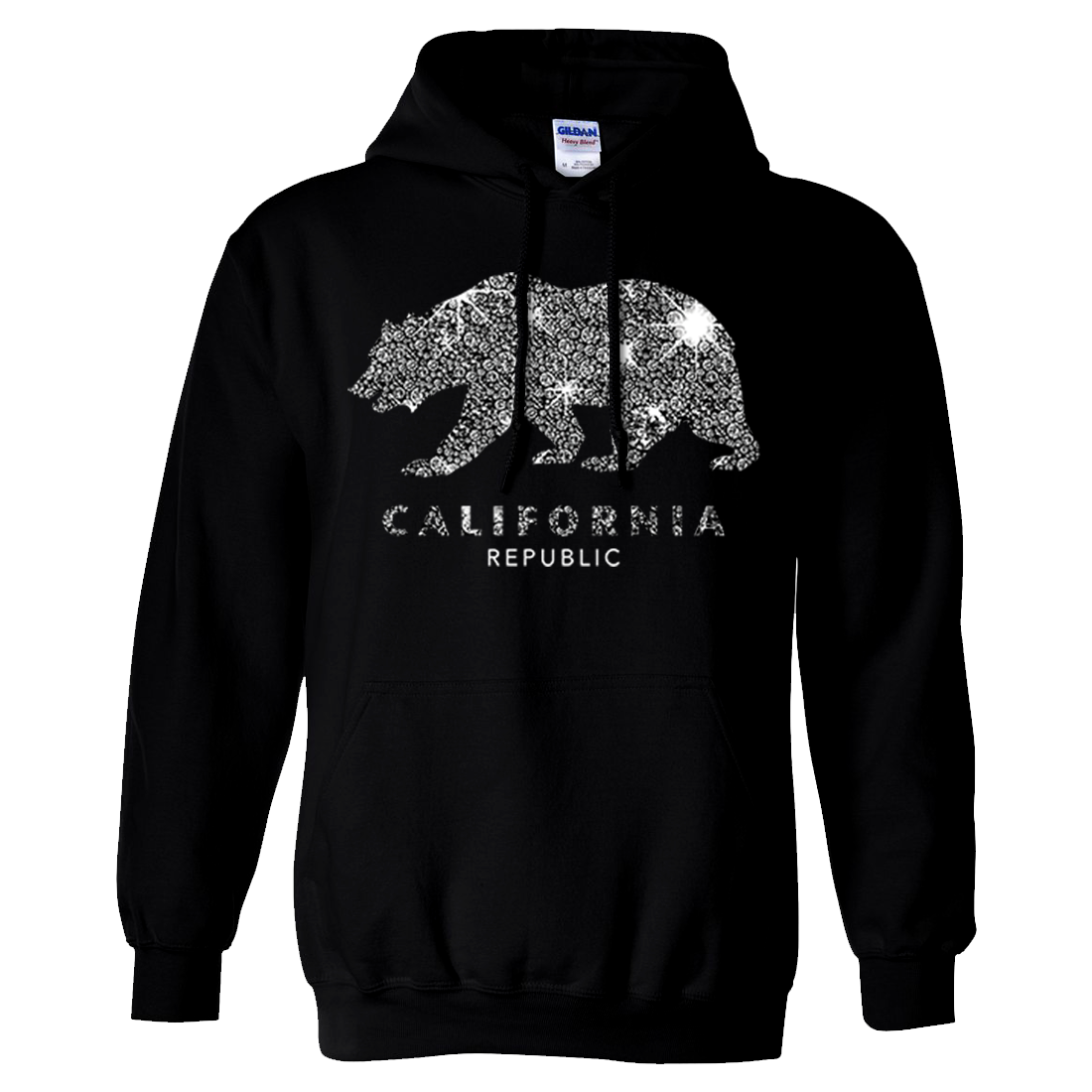 California Republic Sparkle Sweatshirt Hoodie