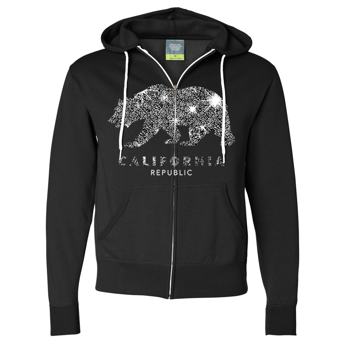 California Republic Sparkle Zip-Up Hoodie
