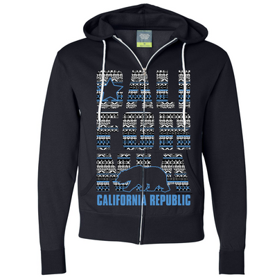 California Republic Tribal Aztec Zip-Up Hoodie