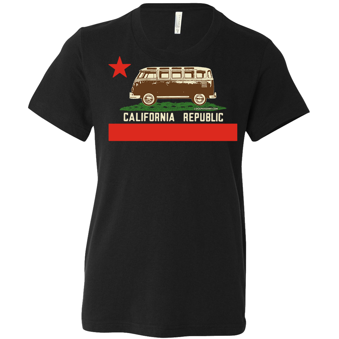 California Republic Vintage Van Asst Colors Youth T-Shirt/tee