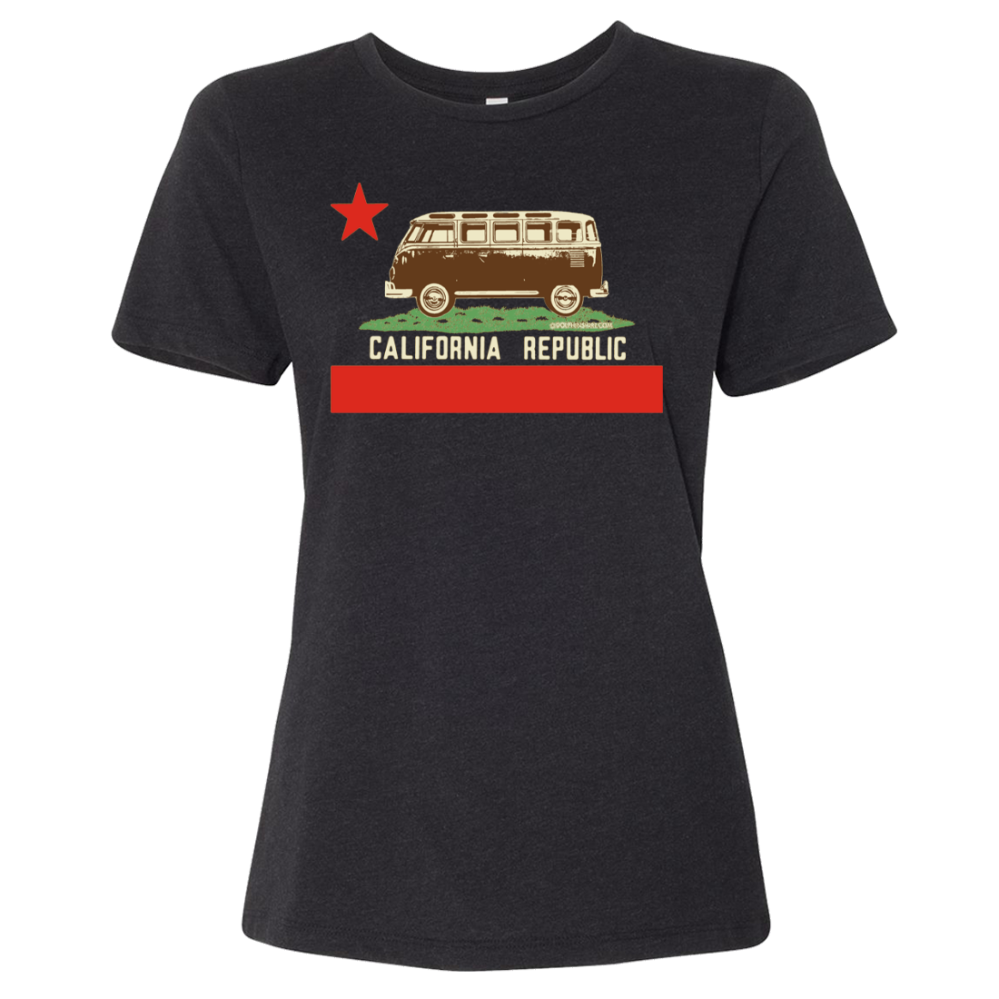 California Republic Vintage Van Women's Relaxed Jersey Tee