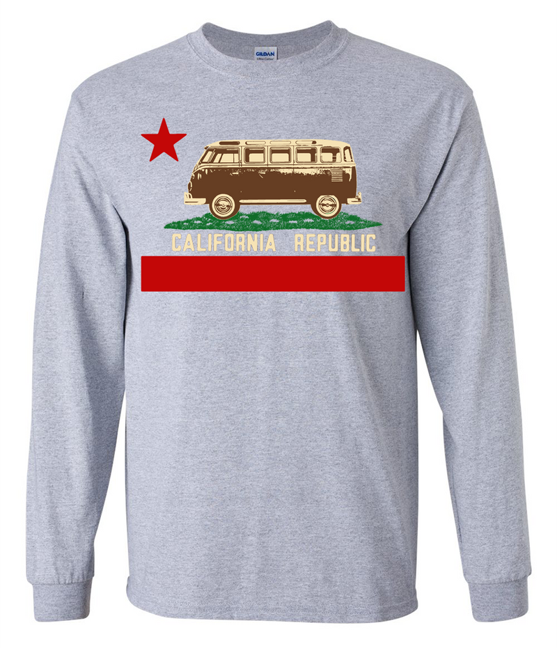 Represent the state of California while staying warm with this comfortable long-sleeve t-shirt.