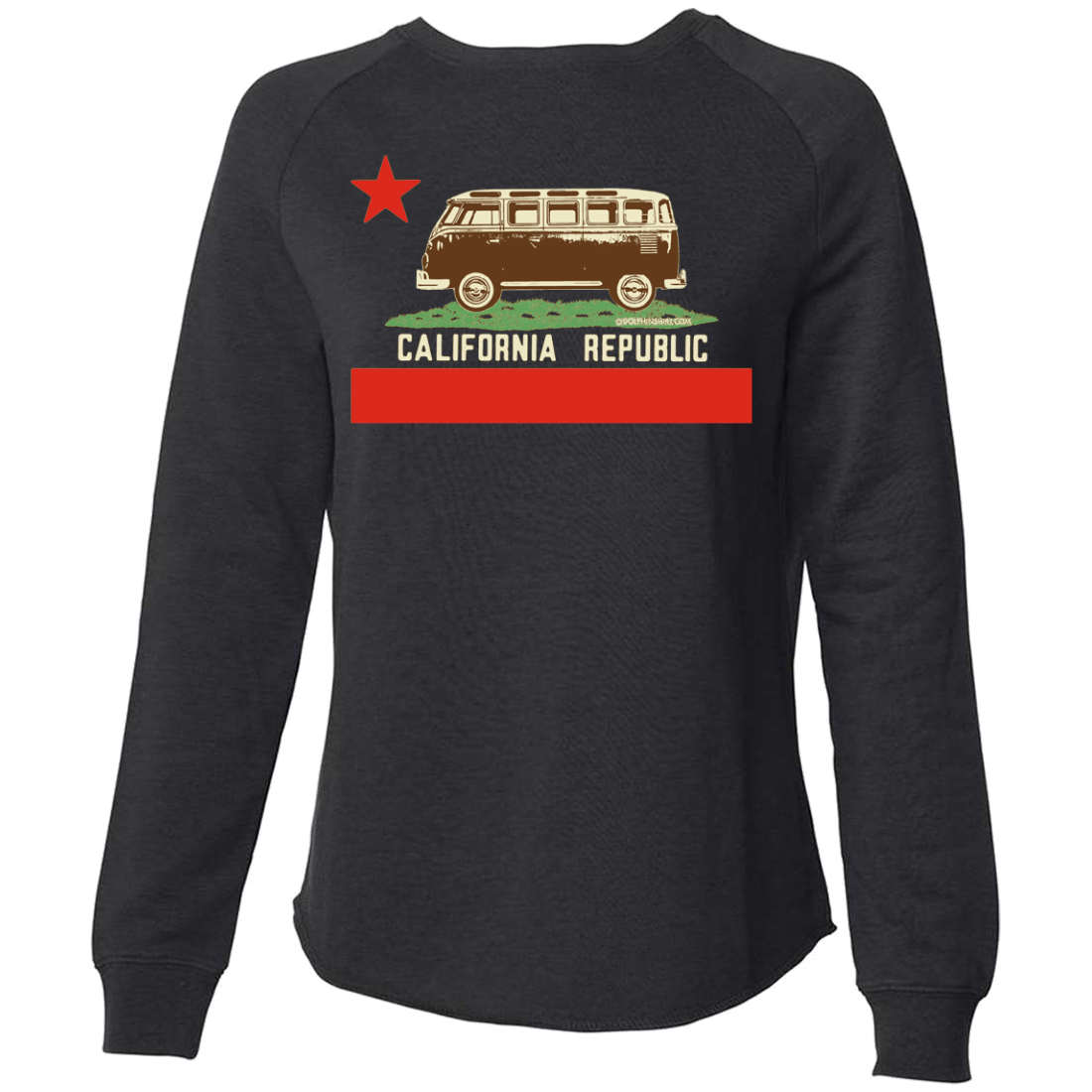 California Republic Vintage Van Super Soft Crewneck Sweater