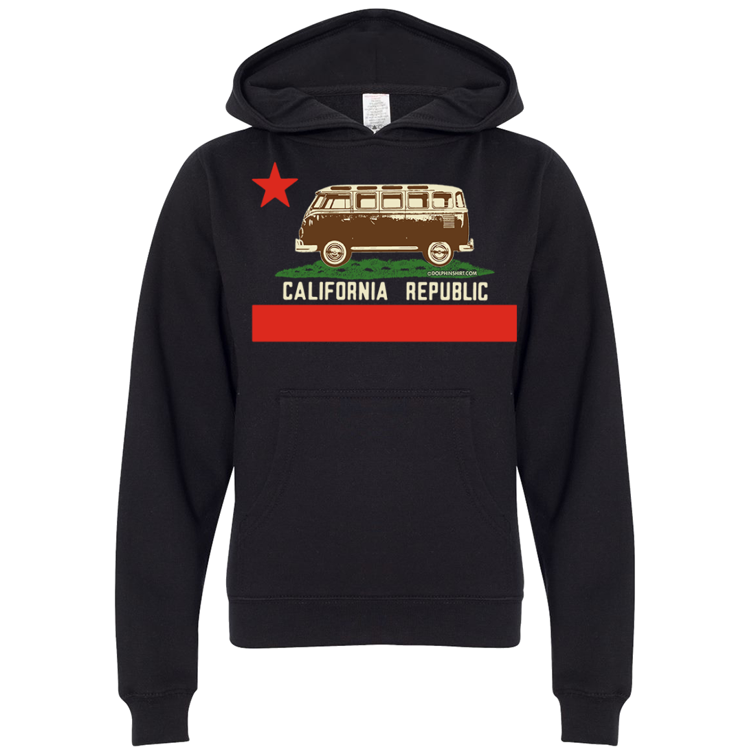 California Republic Vintage Van Premium Youth Sweatshirt Hoodie