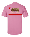 California Republic Vintage Van Back Print Asst Colors T-shirt/tee