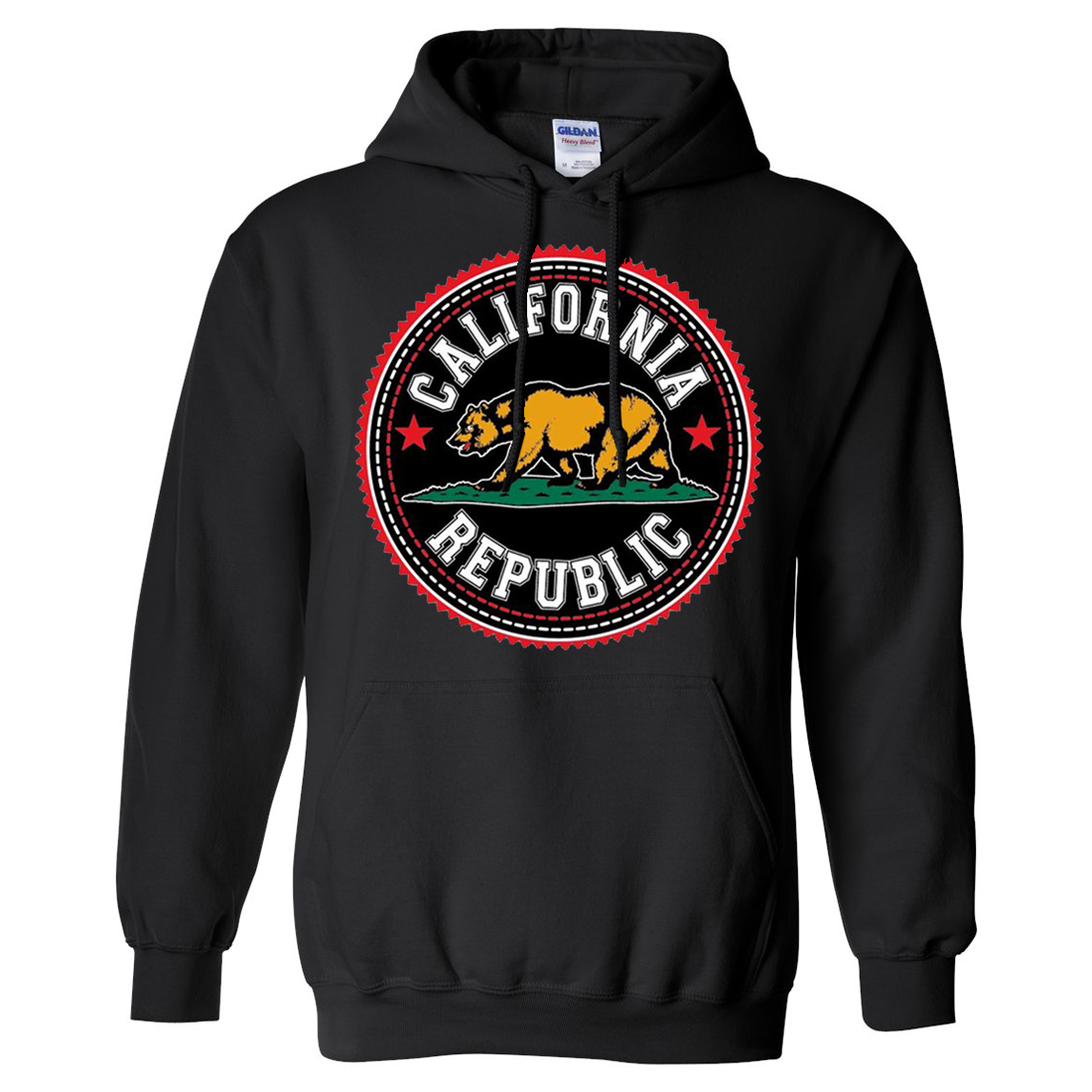 California Republic Bear Emblem Asst Colors Sweatshirt Hoodie