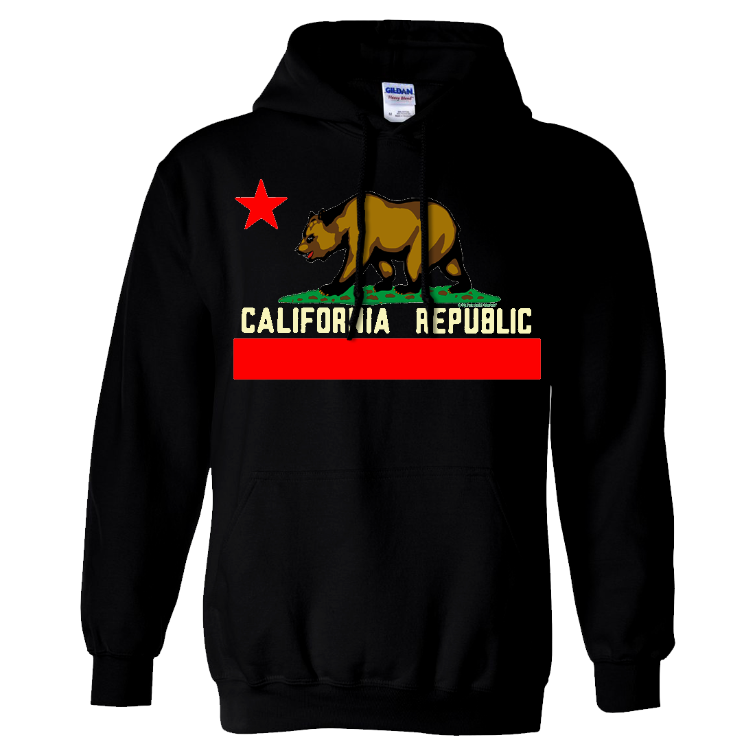 California State Flag Borderless Sweatshirt Hoodie