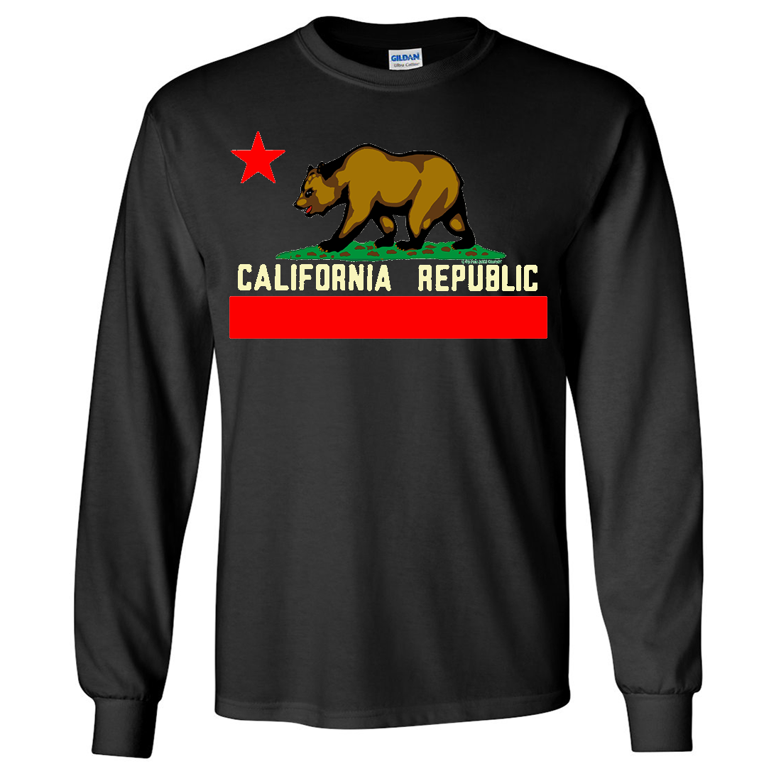 California State Flag Borderless Long Sleeve Shirt