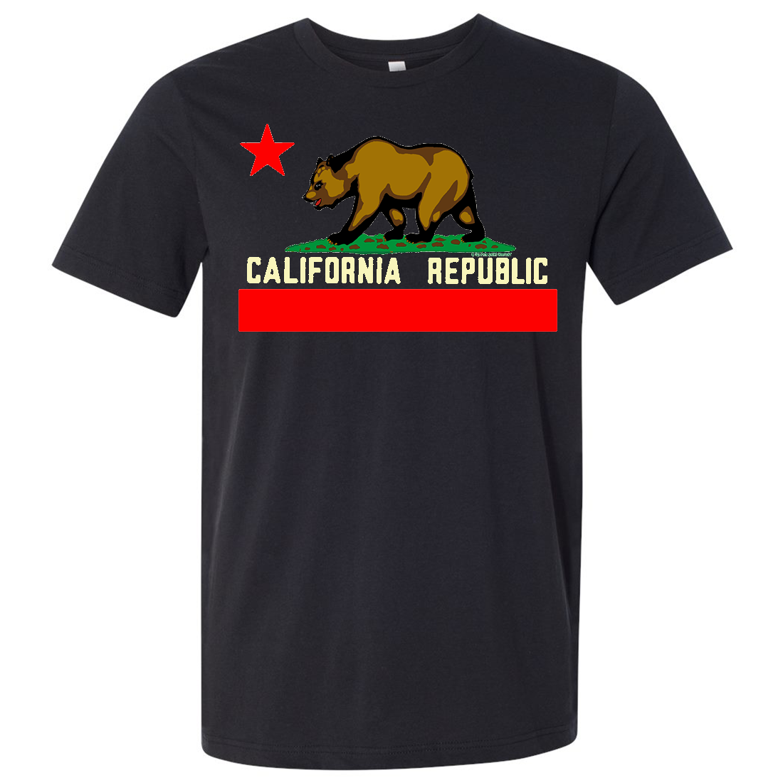 California State Flag Borderless Asst Colors Mens Lightweight Fitted T-Shirt/tee