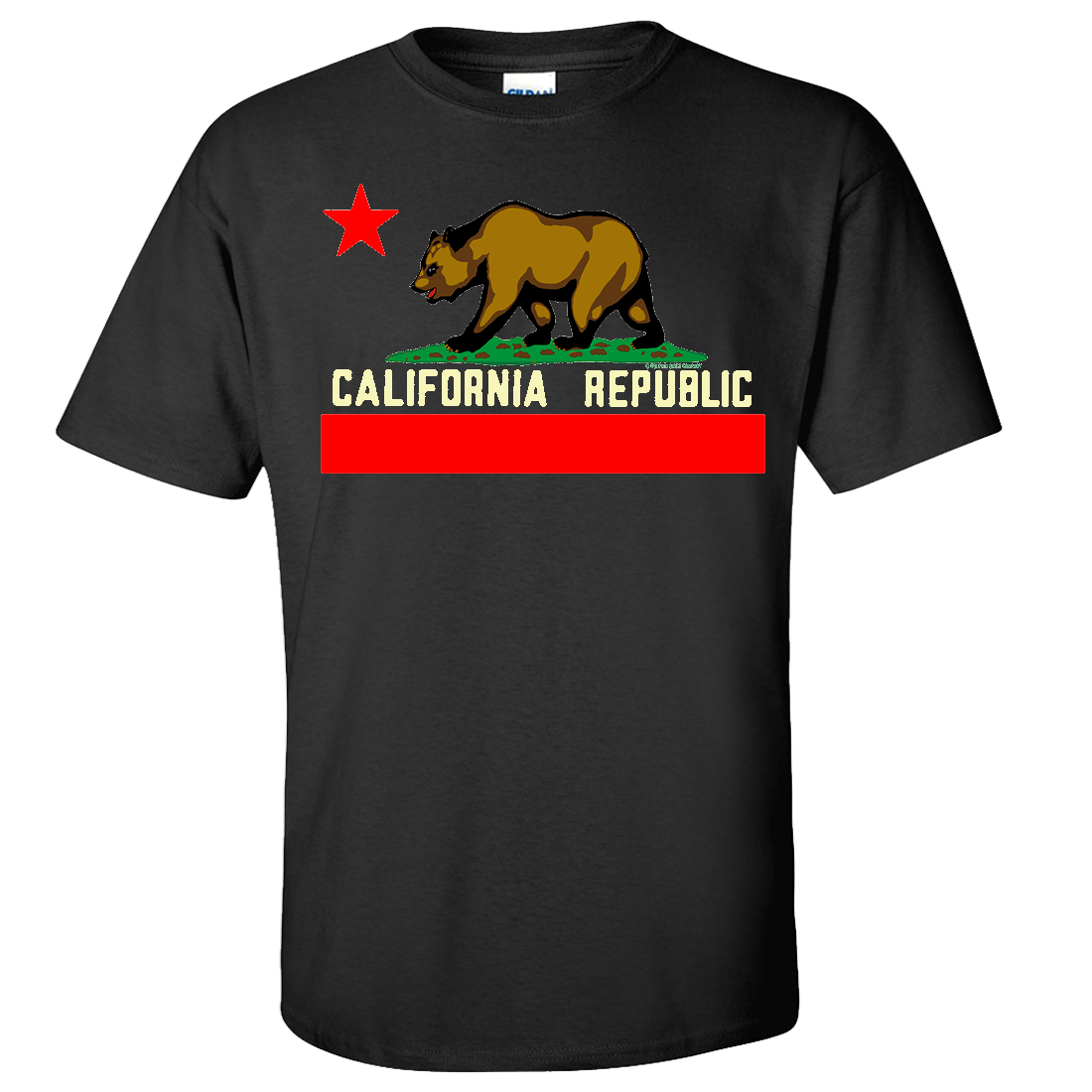 California State Flag Borderless Asst Colors T-shirt/tee