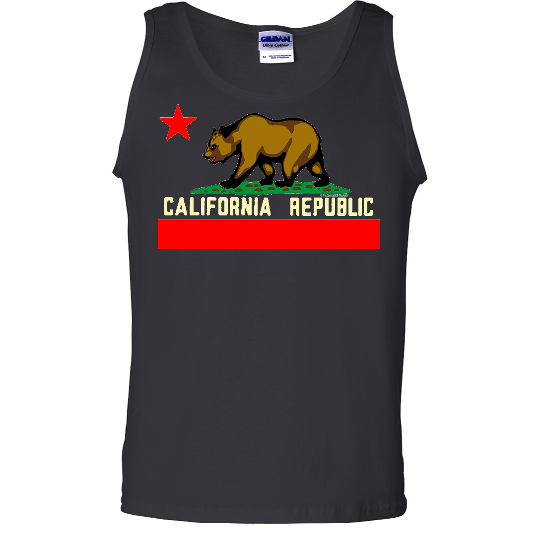 California State Flag Borderless Asst Colors Tank Top