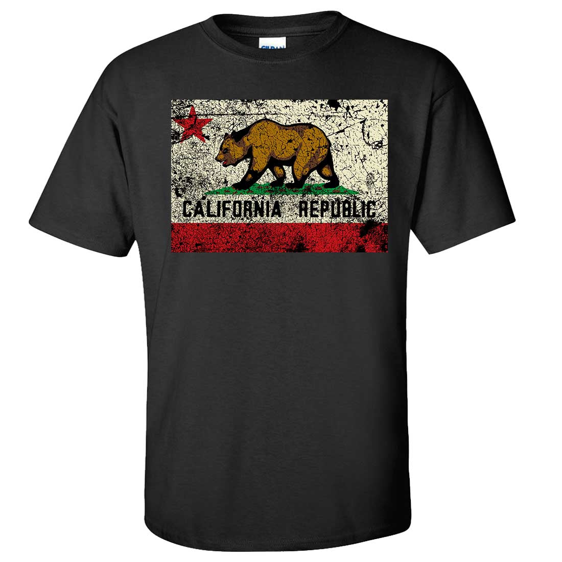 California State Flag Distressed Vintage Asst Colors T-Shirt/tee