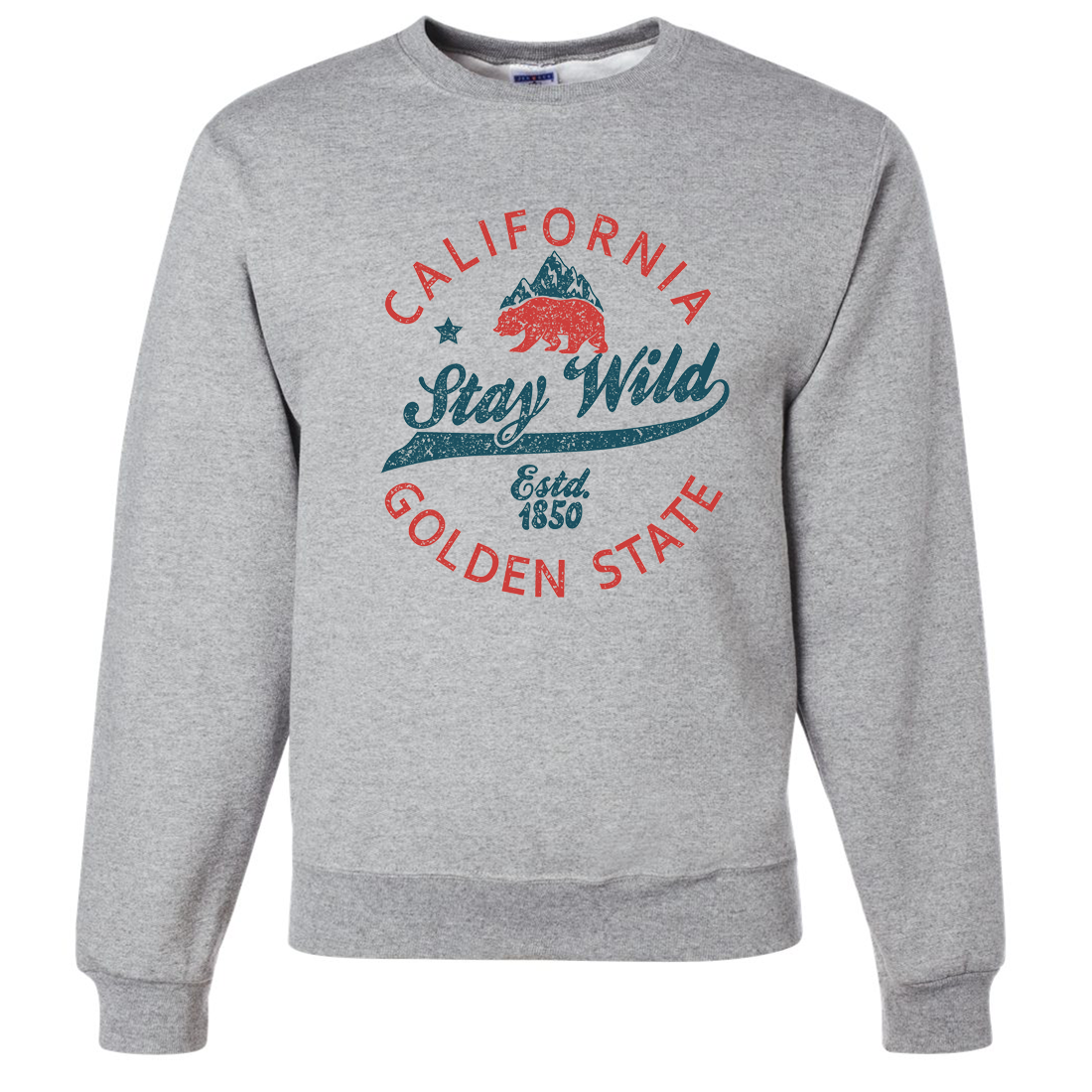 California Stay Wild Crewneck Sweatshirt