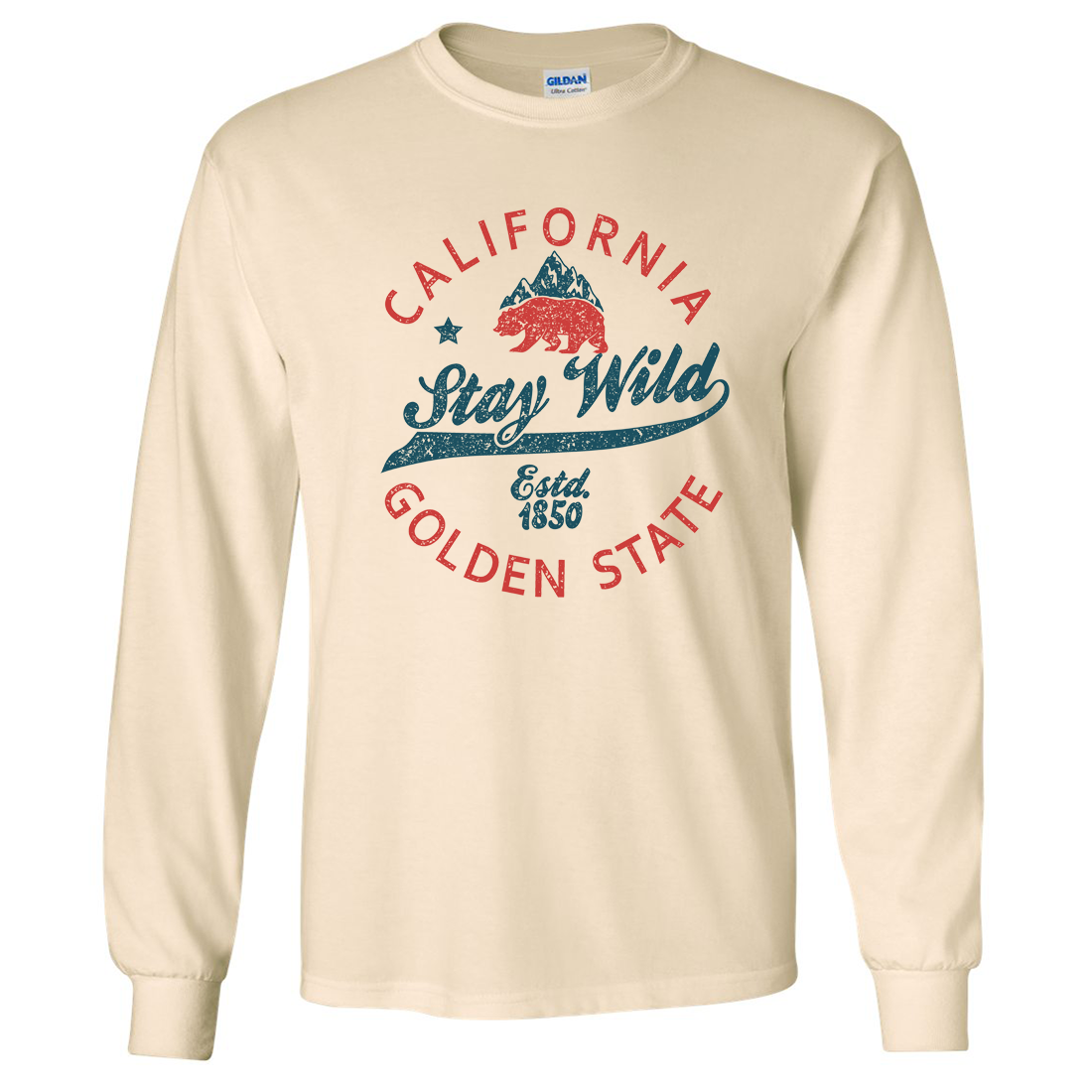 California Stay Wild Long Sleeve Shirt